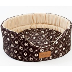 Katsu лежанка Yohanka shine Dog Paws, цвет коричнево-бежевый