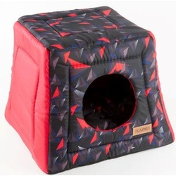 Katsu домик-трансформер Hopi Геометрия, цвет красный, 40*40*35 см