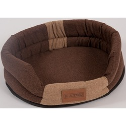 """Katsu """"Animal"""" лежак с бортом, коричнево-бежевый."""