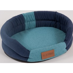 "Katsu ""Animal"" лежак с бортом, сине-голубой."