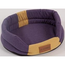 """Katsu """"Animal"""" лежак с бортом, фиолетово-песочный."""