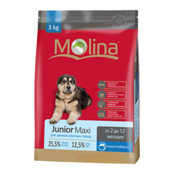 Molina корм для щенков крупных и гигантских пород «Junior Maxi»