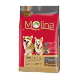 Molina корм с рыбой и картофелем для собак всех пород MOLINA «Fish & Potato», 15 кг