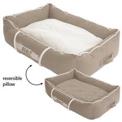 Rogz Lounge Podz Лежак с бортиком и двусторонней подушкой, бежевый/кремовый