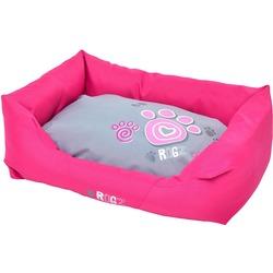 """Rogz Spice Podz Лежак с бортиком и двусторонней подушкой """"Розовая лапка"""", розовый"""