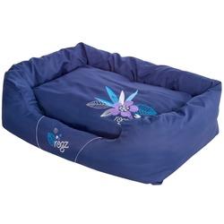 """Rogz Spice Podz Лежак с бортиком и двусторонней подушкой """"Фиолетовый лес"""", фиолетовый"""