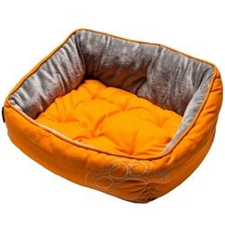 Rogz Luna Podz мягкий лежак с двусторонней подушкой, оранжевый
