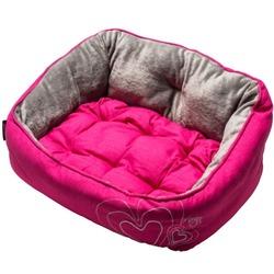 Rogz Luna Podz мягкий лежак с двусторонней подушкой, розовый