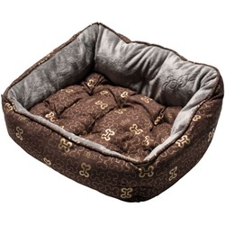 Rogz Trendy Podz мягкий лежак с двусторонней подушкой, коричневый