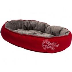 Rogz Snug Podz мягкий лежак с двусторонней подушкой, красный
