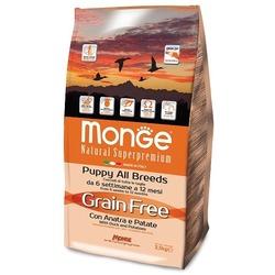 Monge GRAIN FREE беззерновой корм для щенков утка с картофелем 2,5 кг