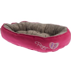 Rogz Snug Podz мягкий лежак с двусторонней подушкой, розовый