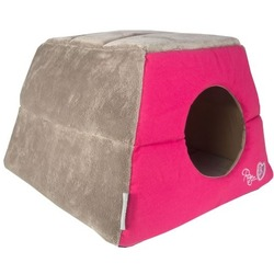 """Rogz Igloo Podz домик трансформер 2 в 1 """"Розовые леденцы"""", цвет розовый"""