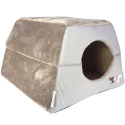 """Rogz Igloo Podz домик трансформер 2 в 1 """"Влюбленные котики"""", цвет бежево-серый"""