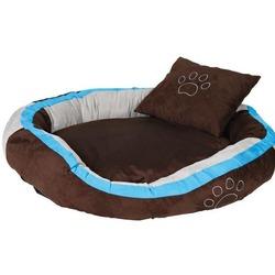 """Trixie Лежак для собак крупных пород """"Bonzo"""" 120х80см, коричневый/аквамарин/серый"""