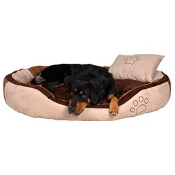 """Trixie Лежак для собак крупных пород """"Bonzo"""" 120х80см, коричневый/бежевый"""