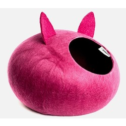 """ZooBaloo Домик-слипер """"Уютное гнездышко"""" с ушками, цвет малиновый (Wool Pet House )"""