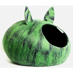 """ZooBaloo Домик-слипер """"Уютное гнездышко"""" с ушками, цвет зеленый мультиколор (Wool Pet House )"""