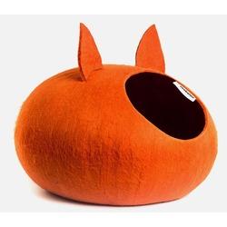 """ZooBaloo Домик-слипер """"Уютное гнездышко"""" с ушками, цвет оранжевый (Wool Pet House )"""