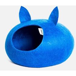 "ZooBaloo Домик-слипер ""Уютное гнездышко"" с ушками, цвет синий (Wool Pet House )"