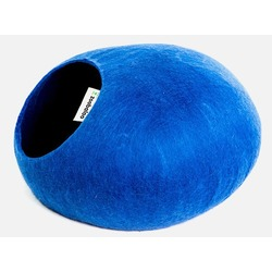 """ZooBaloo Домик-слипер """"Уютное гнездышко"""" круглый, цвет синий (Wool Pet House )"""