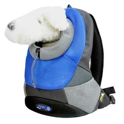 Crazy Paws Pюкзак для перевозки собак Sport De Lux Small, цвет синий, размер 37х14х36,5 см, Арт.: DPETC021- BL