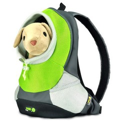 Crazy Paws Pюкзак для перевозки собак Sport De Lux Small, цвет зеленый, размер 37х14х36,5 см, Арт.: DPETC021-GN