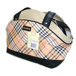"""Dogman теплая сумка-переноска с мехом """"Сити"""" 45х19х28см с отверстием для головы"""