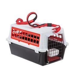 Ferplast ATLAS 10 TRENDY PLUS Переноска для кошек и мелких собак, цвет красный, 48х32,5х29 см