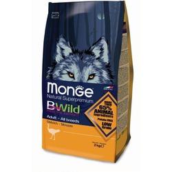 Monge Bwild Dog Osrich для взрослых собак всех пород с мясом страуса