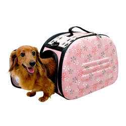 Ibiyaya складная сумка-переноска с жесткими стенками, розовая в цветочек (Ибияйя)