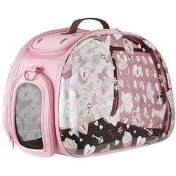 Ibiyaya складная сумка-переноска, прозрачная Valentine`s Day (Сердечки) (Ибияйя)