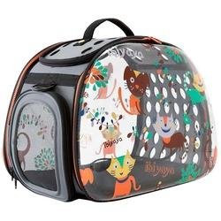 Ibiyaya складная сумка-переноска, прозрачная Cats&Dogs (Ибияйя)