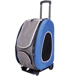 Ibiyaya многофункциональная сумка-тележка, синяя (Ибияйя) EVA Pet Carrier/ Pet Wheeled Carrier – Blue