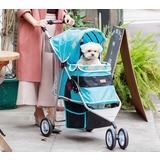Ibiyaya коляска для собак Starry Sky Pet Stroller ( New I-Cute Pet Buggy), голубая (Ибияйя)