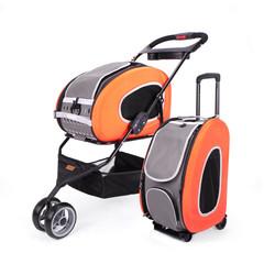 Ibiyaya многофункциональная сумка-тележка 5 в 1, оранжевая Combo EVA Orange Pet Carrier/Stroller (Luxury package) (Ибияйя)