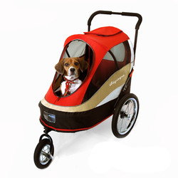 Ibiyaya трейлер-коляска для собак с накидкой от дождя Happy Bicycle Pet Trailer/ Stroller (Ибияйя)