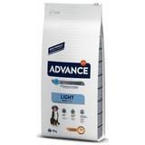 Advance Maxi Light для взрослых собак крупных пород с курицей и рисом, контроль веса, 15 кг.
