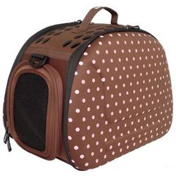 Ibiyaya складная сумка-переноска, Тоскано, коричневая в горошек (Ибияйя)