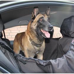 Автогамак с защитой обивки дверей OSSO Car Premium 3 в 1 для перевозки собак, цвет темно-серый + АВТОПОИЛКА В ПОДАРОК