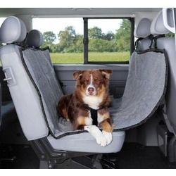 Trixie автогамак для перевозки собак, с покрытием из искусственной овчины, цвет черный с серым, 145 х 160 см, арт. 1313