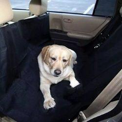 Triol Подстилка-гамак в машину для собак, размер 140*150 см, цвет темно-синий + АВТОПОИЛКА В ПОДАРОК