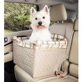 Solvit Products & PetSafe Авто кресло для собак на сиденье автомобиля Deluxe, цвет клетка
