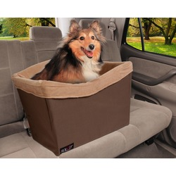 Авто кресло для собак на сиденье автомобиля Deluxe, цвет коричневый, Solvit Products & PetSafe