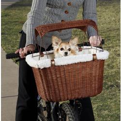 Solvit велокорзина плетеная для перевозки собак Tagalong Pet Bicycle Basket