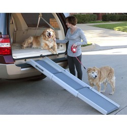 Solvit Пандус для собак Deluxe Tri Scope Dog Ramp, 3 сложения, 71см -178 см х 41 см х 12,7 см, для собак весом до 180кг