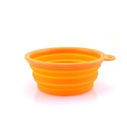 Superdesign миска складная, силиконовая, цвет оранжевый