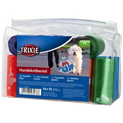 Trixie Набор пакетов для уборки за животными, 14 рулонов по 15 штук, цветные, для всех диспенсеров, арт.23478