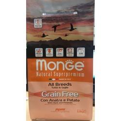 Monge Dog GRAIN FREE беззерновой корм для собак всех пород утка с картофелем