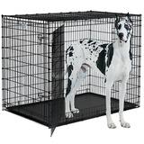 "Midwest Crate ""Ginormus"" Canine Solutions, клетка для собак крупных и гигантских пород, 2 двери, размер 137х94х114 см"